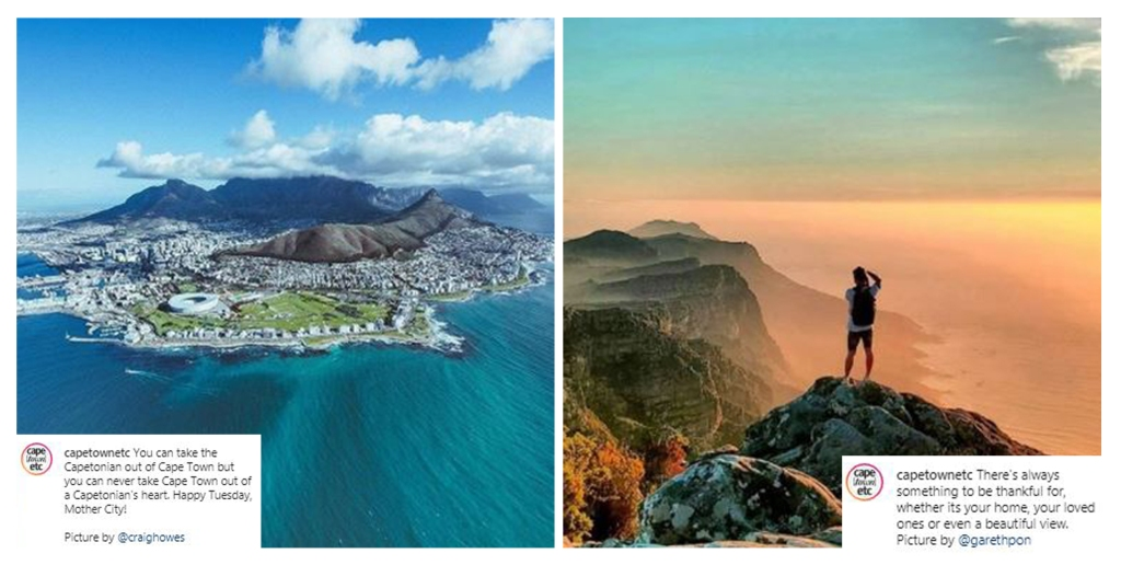 Follow Cape Town etc on Instagram